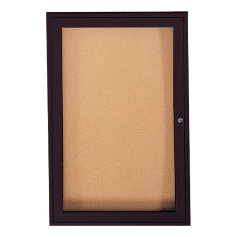 Enclosed Bulletin Boards, One Door for Indoor or Outdoor Use