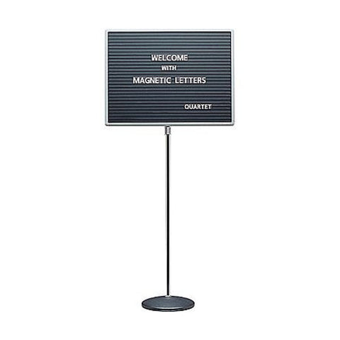 "Single Pedestal Enclosed Letterboard - 18""h x 24""w"