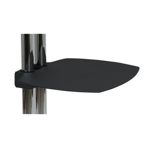 Optional AV Shelf for TV Floor Stands - Black Metal