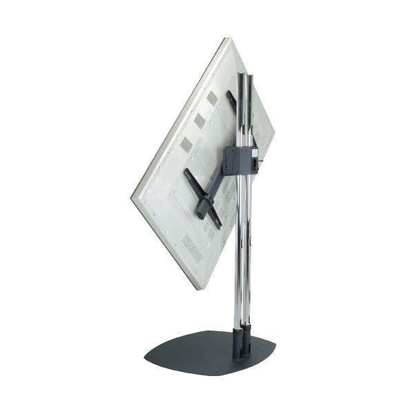 Dual Pole Tv Floor Stand With Rotational Mount For 37