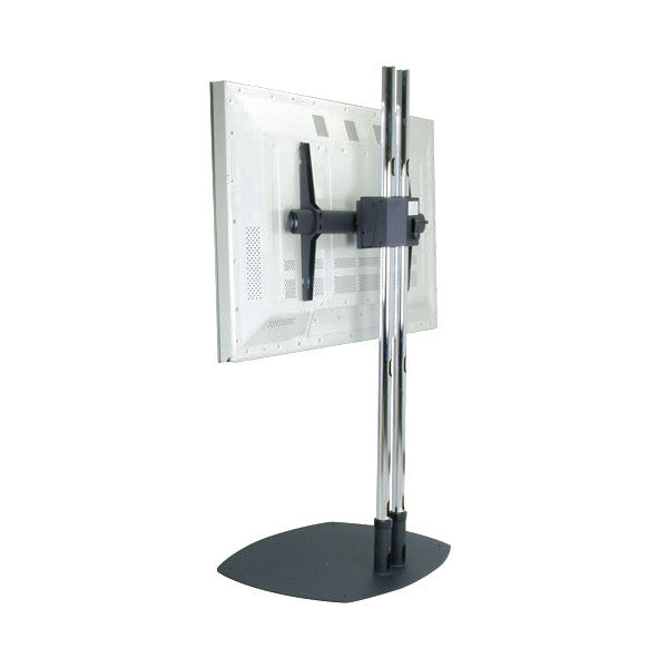 dual pole lcd monitor floor stand w rotating mount for 26. Black Bedroom Furniture Sets. Home Design Ideas