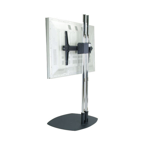 "Dual Pole TV Floor Stand with Rotational Mount - for 37"" to 61"" Screens"