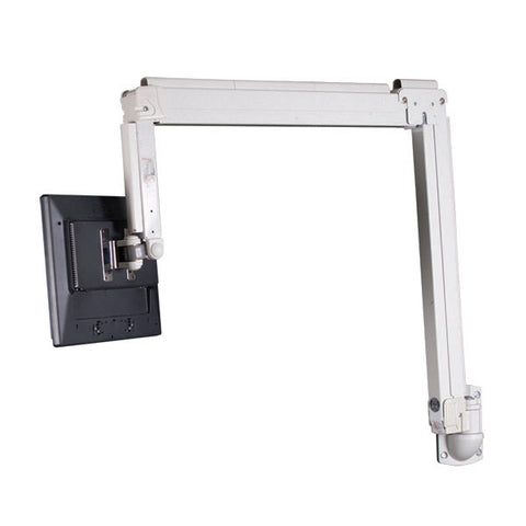 Height Adjustable Monitor Wall Mount for Small Flat Panel Monitors