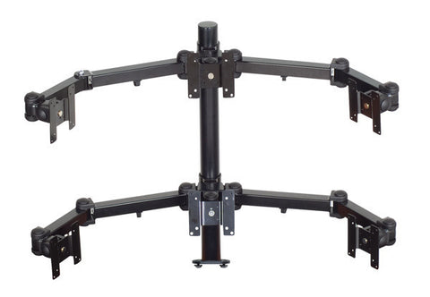 3 Over 3 Articulating Arm Monitor Mount with Choice of Mounting Base