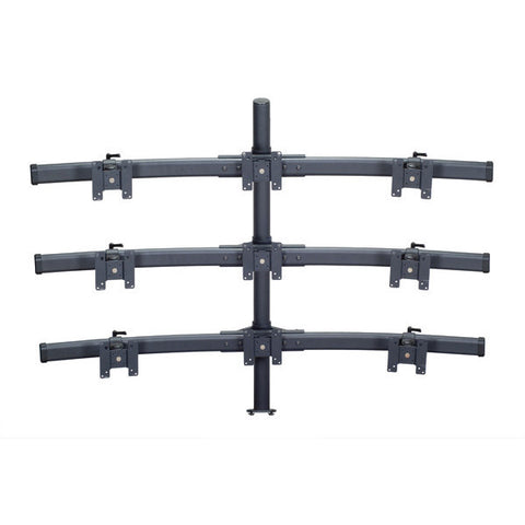 Nine Monitor Mount with Choice of Mounting Base