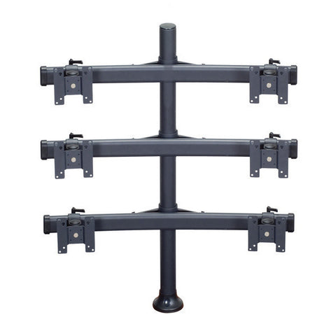 Six Monitor Mount with Choice of Mounting Base
