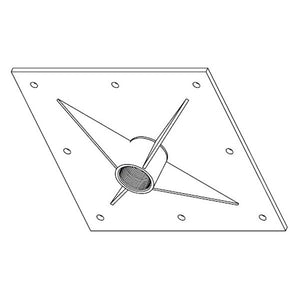 Square Ceiling Flange for Ceiling Mounts