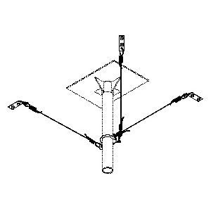 "Drop Ceiling Mount Stabilizer Kit - For 1.5"" Pipe"