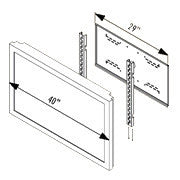 "29"" Wall Mount, Furniture Mount Adaptor Plate for 32""-40"" LCDs"