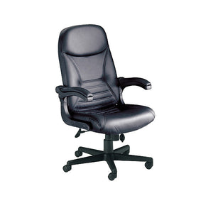 Big and Tall Pivot Arm Ergonomic Leather Office Chair
