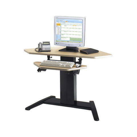 VariTask LT Height Adjustable Corner Desk with DataCenter