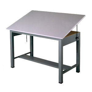 Steel Four-Post Drafting Desk, Economy