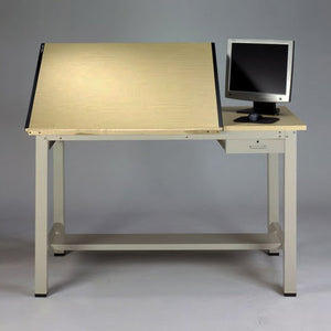 Split-Top Drafting Desk with Tool Drawer