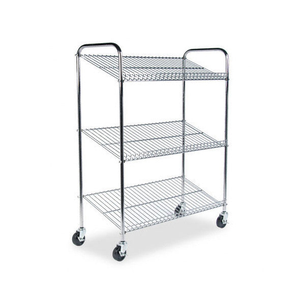 Mailflow-to-Go 3 Shelf Wire Mail Cart | OneStop Ergonomics