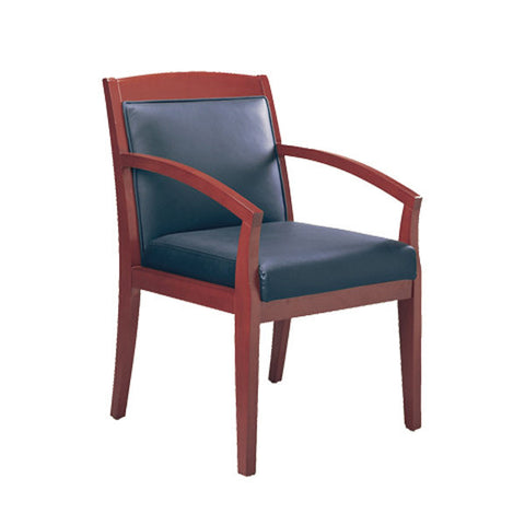 Mercado Wood and Leather Guest Chair - Model 1 - Multiple Colors