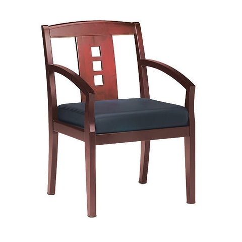 Mercado Wood and Leather Guest Chair - Model 2 - Multiple Colors