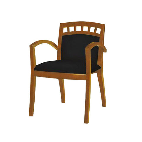 Mercado Wood and Leather Guest Chair - Model 5 - Multiple Colors
