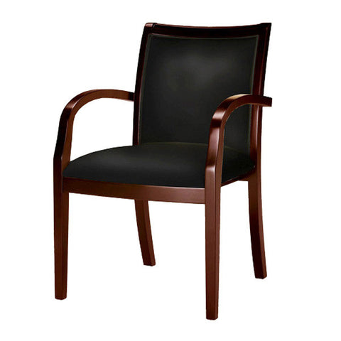 Mercado Wood and Leather Guest Chair - Model 7 - Multiple Colors