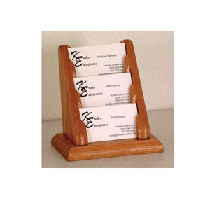 Business card holders displays and card racks onestop ergonomics 3 business card oak table top display colourmoves