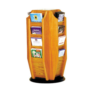 16-Brochure Oak Rotary Table Top Display