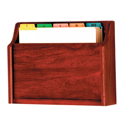Single Pocket Wall Mounting Wood File Holder - Mahogany