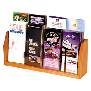 8-Brochure Oak Table Top Display