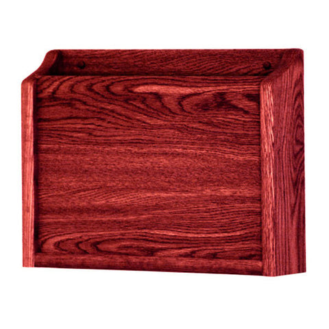 Single Pocket Wall Mounting Privacy File Holder -  Mahogany