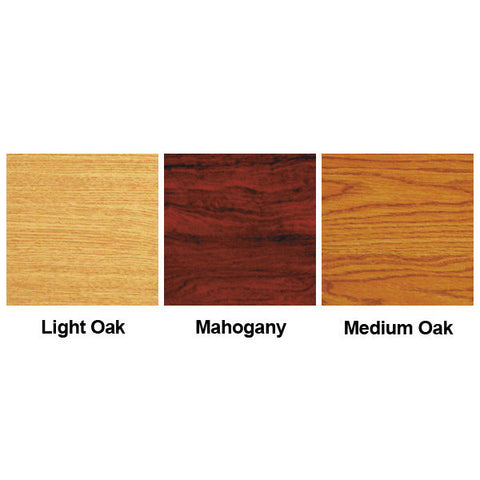 8-Magazine Cascading Oak Wall Display