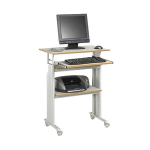 Adjustable Stand Up Computer Desk - Grey