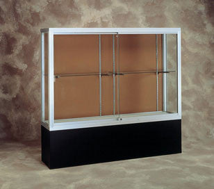 Challenger Series Display Case with Black Laminate Base - Various Widths