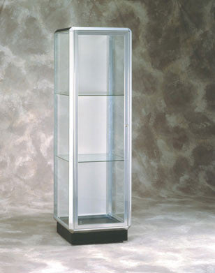 Prominence Series Glass Tower Display Case / Optional Spotlighting