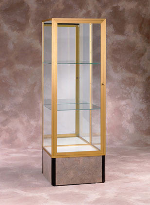 Monarch Series Tower Display Case / Optional Spotlighting
