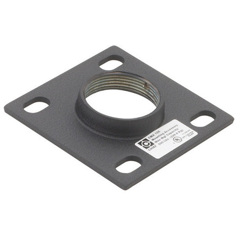 "4"" x 4"" Ceiling Plate for 1-12"" NPT Fitting - Black"
