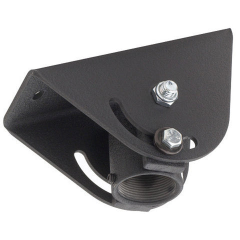 Angled Ceiling Plate for Pole Mounts - Black