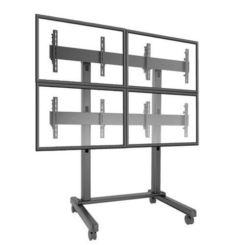 Freestanding Video Wall Mount for Multiple Large Screens