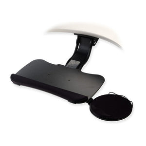 Tilt-A-Wheel Adjustable Sit Stand Keyboard Tray with Swivel/Tilt Mouse Tray