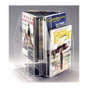 6-Magazine Rotating Clear Table Top Display