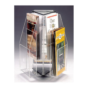 6-Brochure Rotating Clear Table Top Display