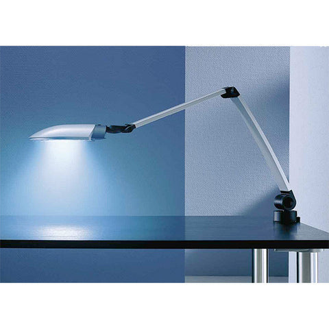 long fluorescent desk task lamp with double arm extension. Black Bedroom Furniture Sets. Home Design Ideas