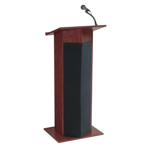 The Power Plus - Lectern with Built-In Multimedia Sound System, Amp, 2 Mics, & Speakers