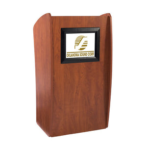 The Vision - Modern Lectern with LCD Logo / Slideshow Screen & Remote Control