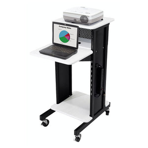 Multimedia Presentation Cart with 4 Shelves