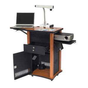 The Wizard - Multimedia Projector Cart with VGA Panel
