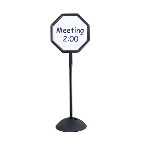 Write Way Double-Sided Octagonal Dry Erase Lobby Sign