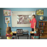 Aluminum Trim Fixed Frame Whiteboard Projection Screen - 11 Sizes - Gray