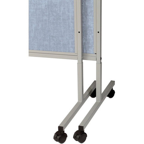 "Mobile 3 Panel Folding Room Divider - 78"" H - Hook & Loop Fabric - Multiple Colors"