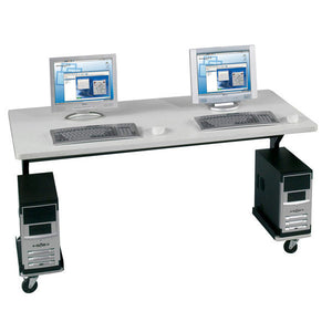 Brawny Mobile Adjustable Computer Table - 60""