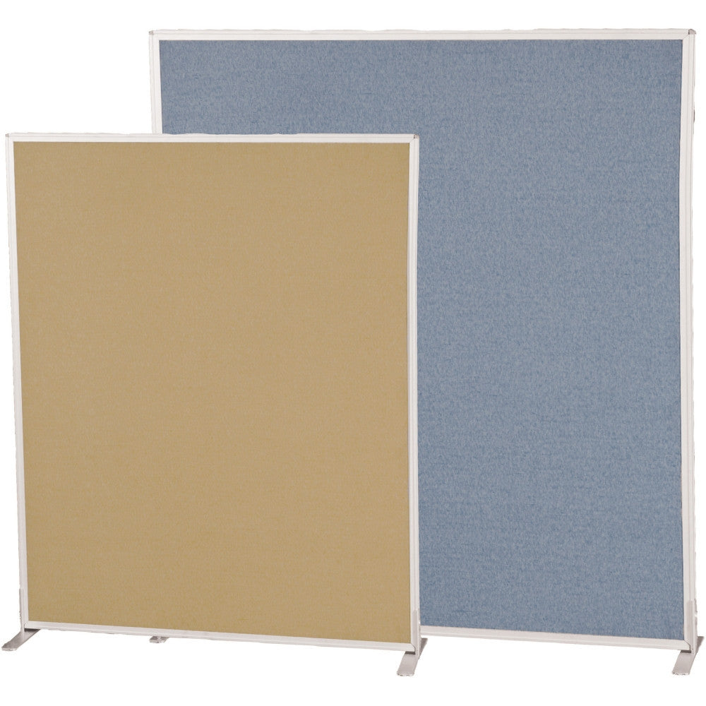 Office Screens Dividers Contemporary Office Doublesided Blue Fabric Panel For Modular Office Divider System 6 Panel Warehouse Room Dividers Office Partitions And Folding Screens