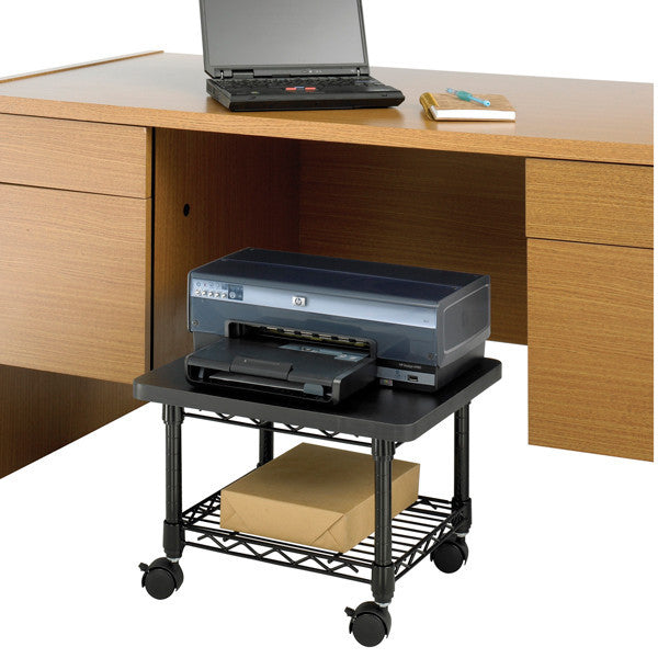 under desk printer fax cart onestop ergonomics