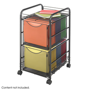 Onyx Mesh 2 Drawer File Cart
